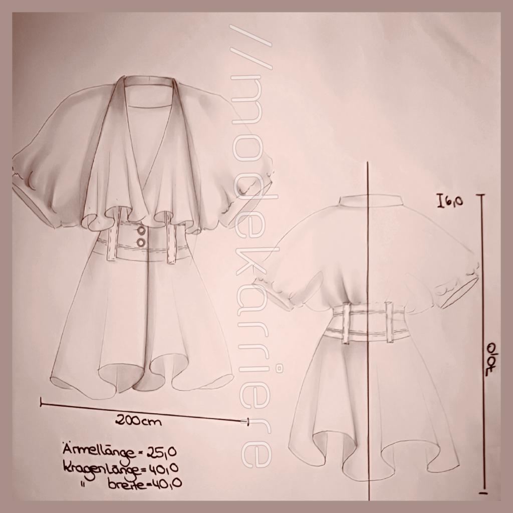 technische Modezeichnung