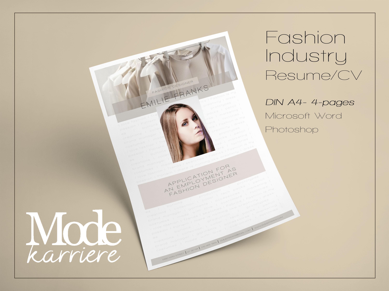 Kreative Bewerbung Modekarriere