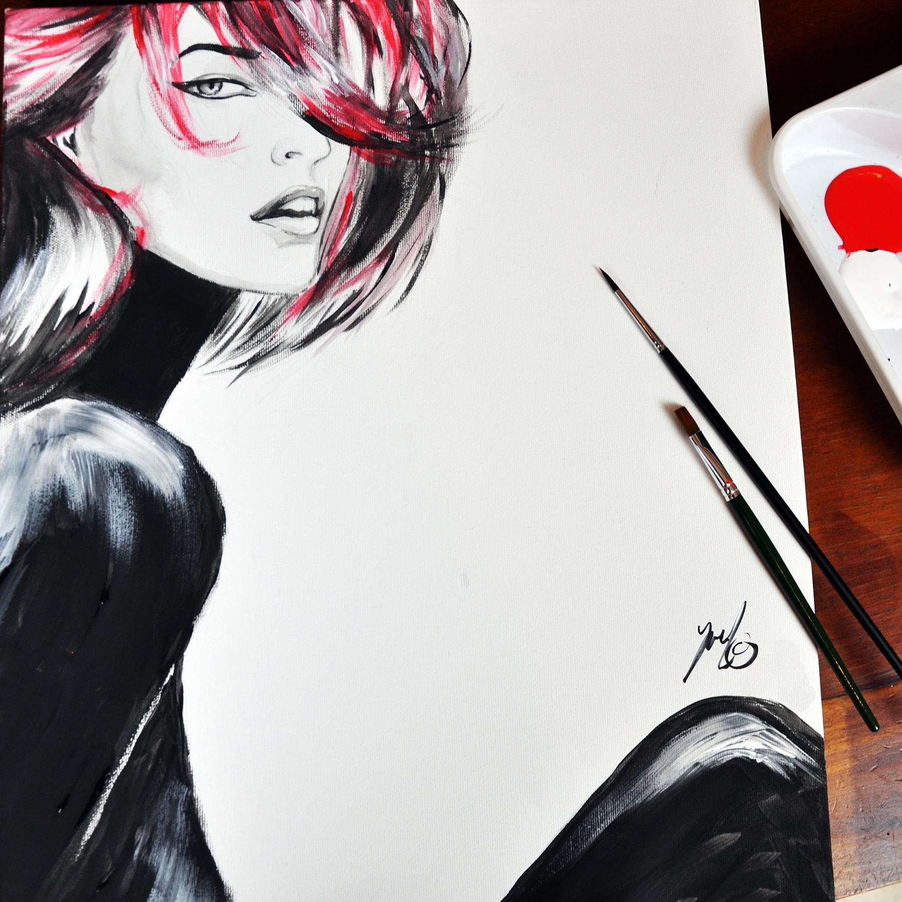 modebranche ortsunabhängig arbeiten Illustration Yael Hertzog