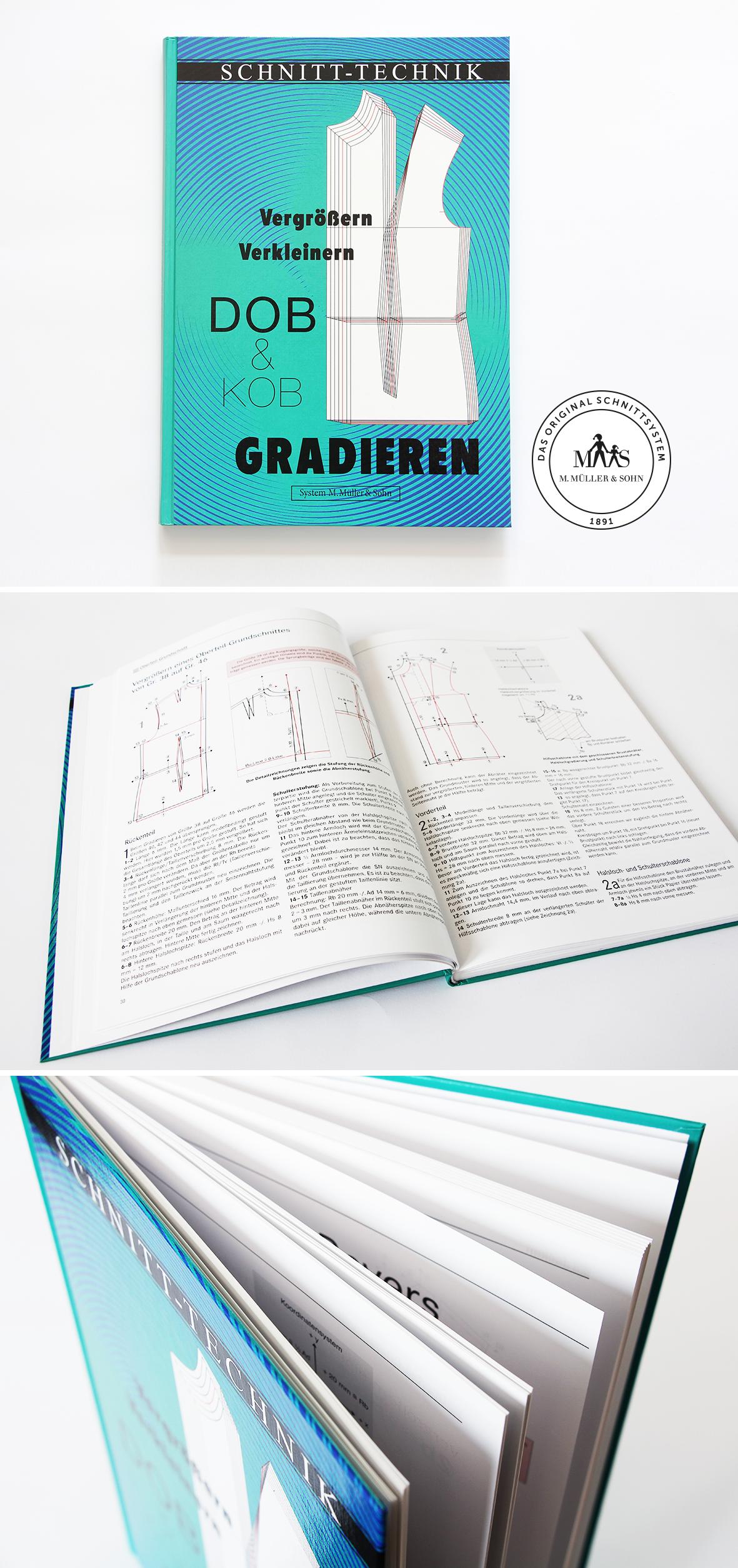 DOB Gradieren Fachbuch für Modedesigner