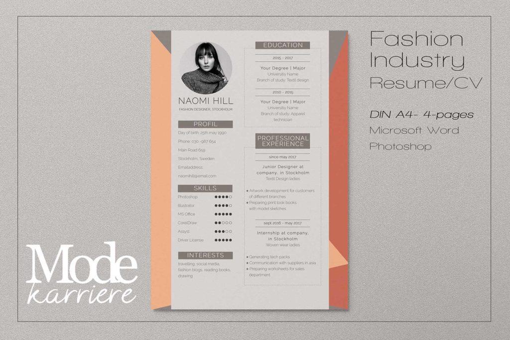 kreative Bewerbung Modedesigner