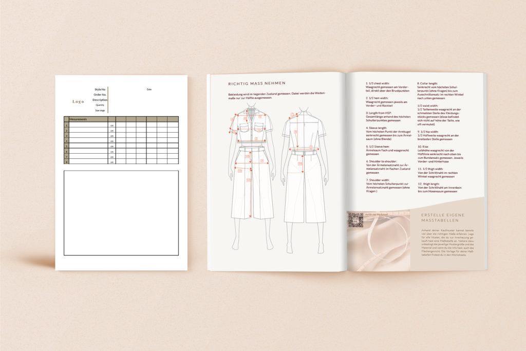 Modedesign Vorlagen ArbeitsunterlagenProduktionsreif